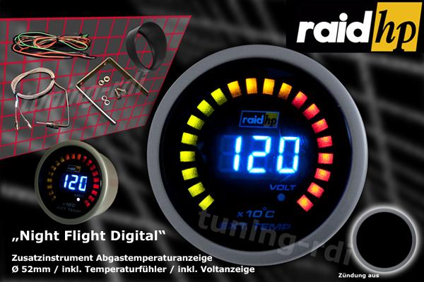 raid hp zusatzinstrument 52mm abgastemperaturanzeige night. Black Bedroom Furniture Sets. Home Design Ideas