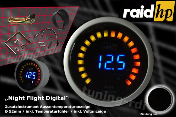 raid hp zusatzinstrument 52mm thermometer night flight. Black Bedroom Furniture Sets. Home Design Ideas