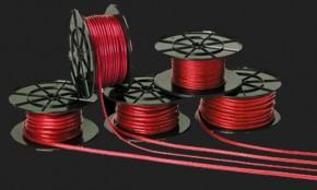 c-quence Stromkabel 10mm² Meterware in rot