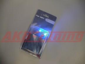 Alfatec LED Schrauben verchromt in blau 12V