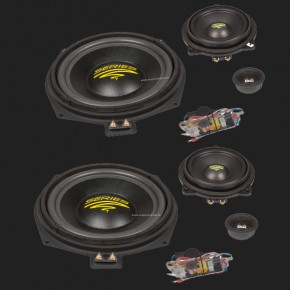Audio System X--ION SERIES 3-Wege Compo System X 200 BMW 5er (E60, E61), 1er(E81, E82, E87, E88), 3er (E90, E91), X1 (E84)
