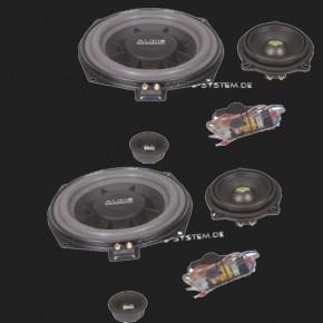 Audio System X--ION SERIES 3-Wege Compo System X 200 PLUS BMW 5er (E60, E61), 1er(E81, E82, E87, E88), 3er (E90, E91), X1 (E84)