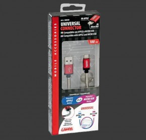 LAMPA USB Kabel Kombistecker LIGHTNING und MICRO USB (1 Meter)