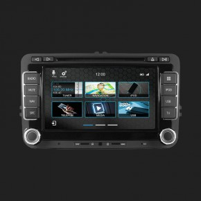 DYNAVIN 2-DIN Multimediagerät N7 für Volkswagen diverse Bj. 2003-2012 (Liste siehe Details !) inkl. i-GO Navigationssoftware und 16GB MicroSD Karte