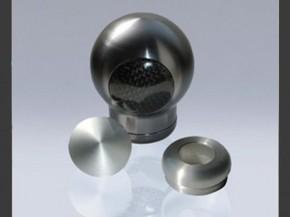 """FOLIATEC Short-Shift-Schaltknauf """"TITAN LINE"""" aus eloxiertem Aluminium mit Echt-Carbon Abdeckungen"""