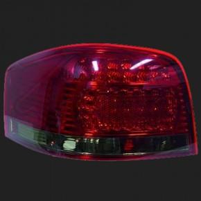 HD DESIGNRÜCKLEUTEN SET Audi A3, 03-08 rot/schwarz MIT LED