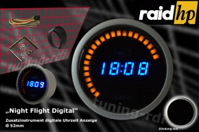 raid hp zusatzinstrument 52mm uhr night flight digital blue rdi 660510. Black Bedroom Furniture Sets. Home Design Ideas